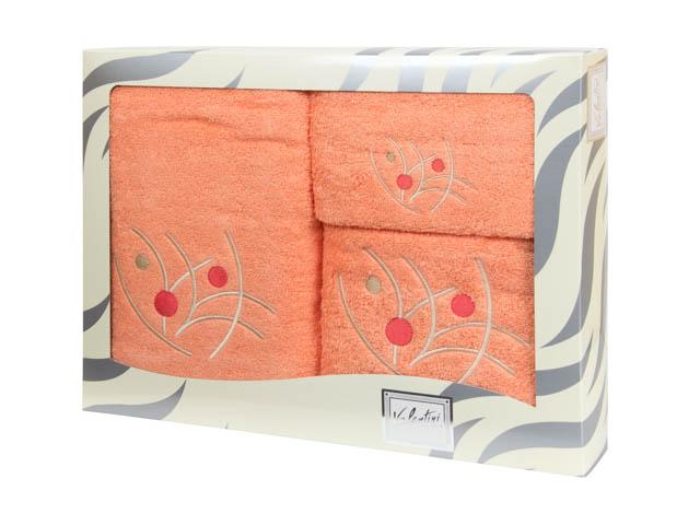 Махровые банные полотенца с вышивкой Valentini арт.81048 1228 (Португалия)