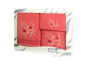 Махровые банные полотенца с вышивкой Valentini арт.81048 1238 (Португалия)