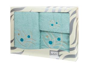 Махровые банные полотенца с вышивкой Valentini арт.81048 2135 (Португалия)