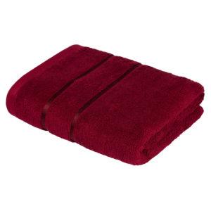 Махровое полотенце Египетский хлопок Бордовый (Tibetial Red)