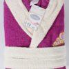 Детский махровый халат с капюшоном Karna Silver фуксия 6-7 лет