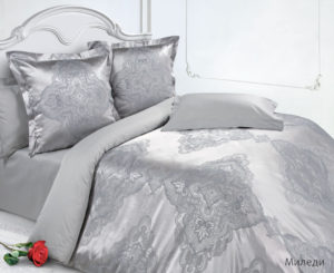 Комплект постельного белья сатин-жакккард Миледи