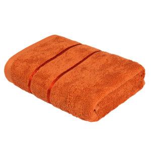 Махровое полотенце Египетский хлопок Оранжевый (Harvest Pampkin)