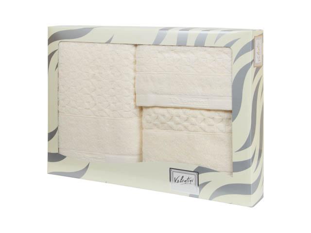 Махровые банные полотенца с вышивкой Valentini TR161 103 (Португалия)