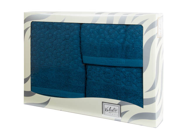 Махровые банные полотенца с вышивкой Valentini TR161 1179 (Португалия)