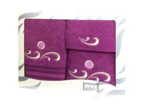 Махровые банные полотенца с вышивкой Valentini арт.Fantasy 1158 (Португалия)
