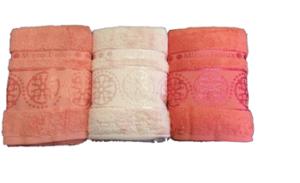 Махровое полотенце Cestepe Orient яркий персик