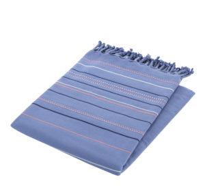 Полотенце СПА двусторонее Wellness синий