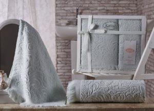Комплект махровых полотенец Esra светло-зеленый