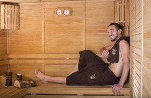 Набор для сауны мужской Barel махровый коричневый