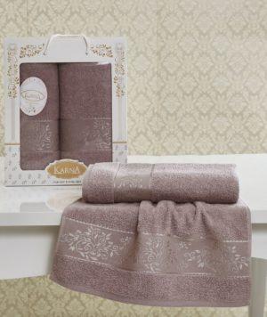 Комплект махровых полотенец Lauren светло-лавандовый