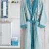 Махровый халат Adra голубой разм.2XL