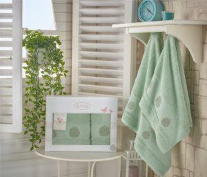 Комплект махровых полотенец Devon зеленый