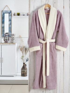 Махровый халат Adra светло-лавандовый разм.S-M