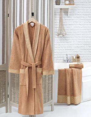 Махровый халат женский Мокко разм.L