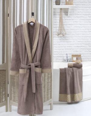Махровый халат женский Карамель разм.S