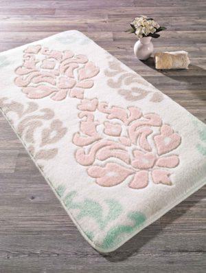 Коврик для ванной комнаты Confetti Bella Damask розовый 60*100 см