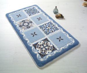 Набор ковриков для ванной комнаты Confetti Bella Ceramic голубой