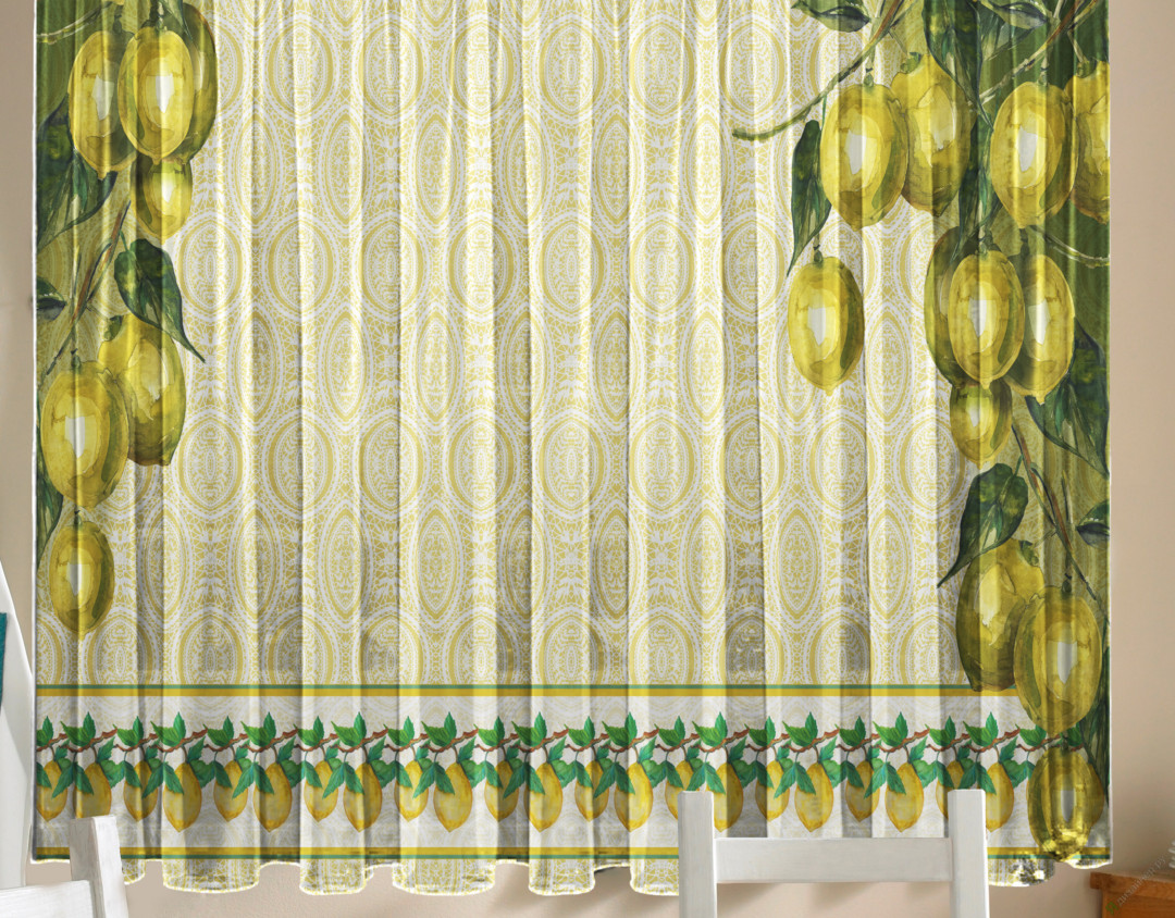 Фотошторы - Тюль для кухни Лимоны