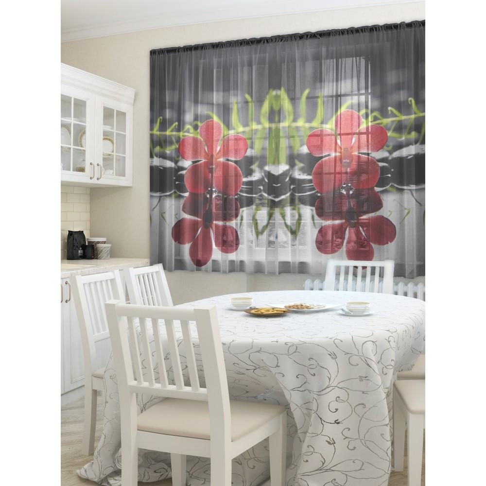 Фотошторы - Тюль для кухни Ночной цветок