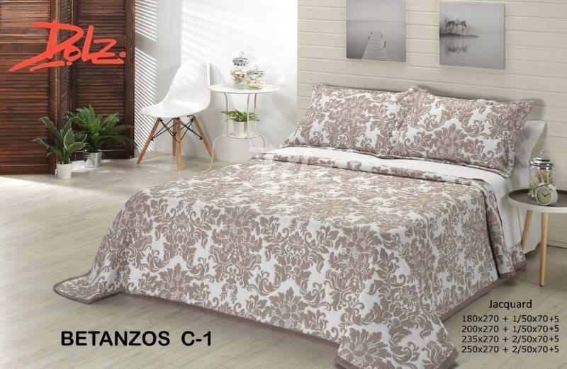 Покрывало на кровать Dolz (Испания) Betanzos C1 Beige