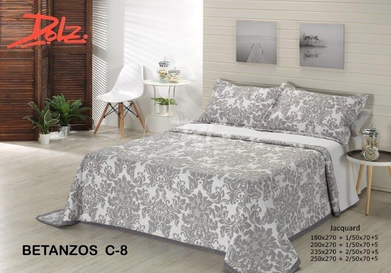 Покрывало на кровать Dolz (Испания) Betanzos C8 Gris