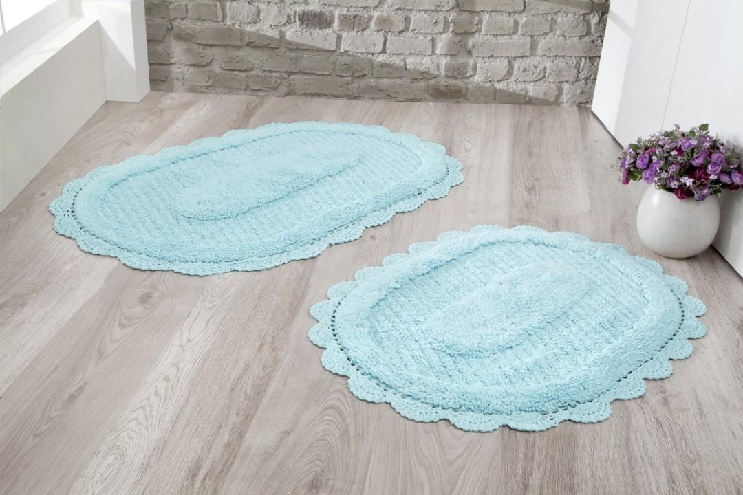 Набор ковриков Lokal светло-бирюзовый