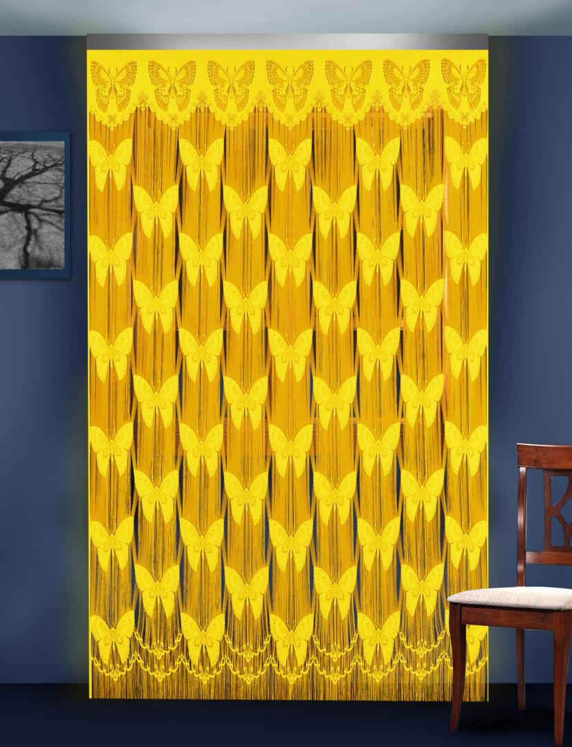 Гардина-лапша 88801 желтый 250*250 см