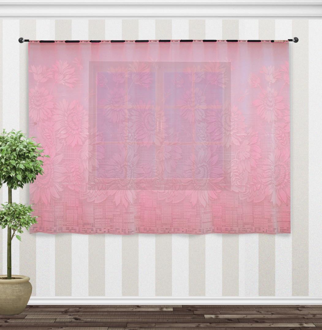 Гардина 88847 розовый 160*250 см