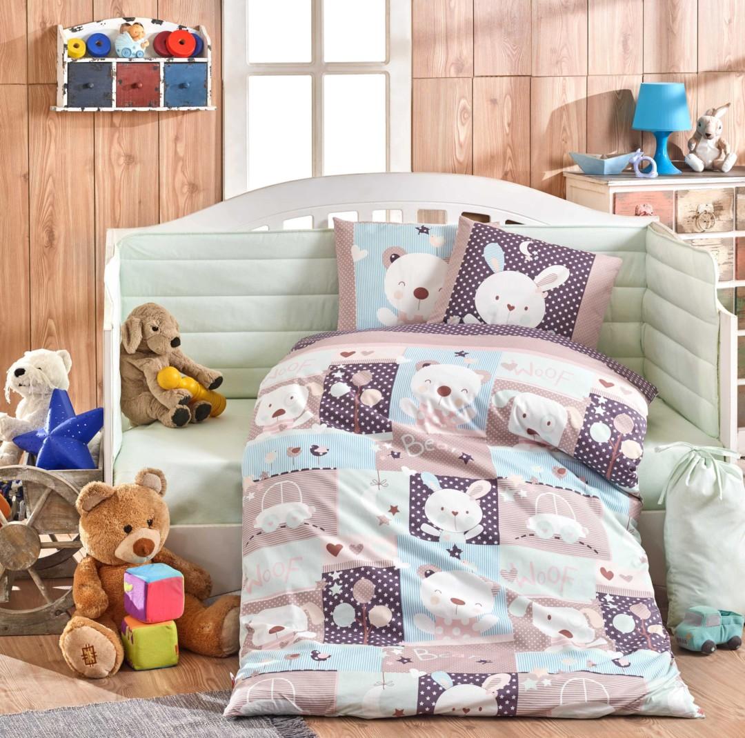 Постельное белье ясли Hobby Home Snoopy минт