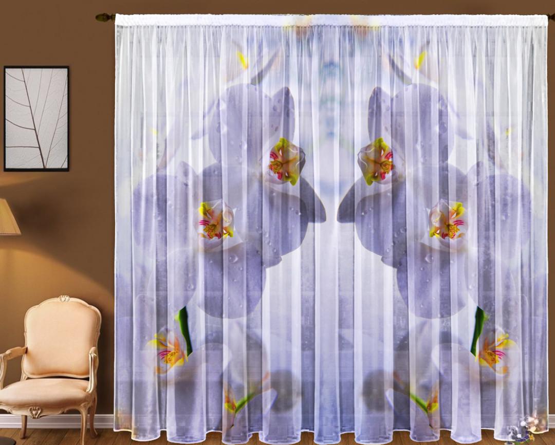 Тюль Белая орхидея 290*270 см