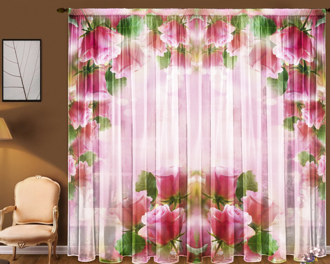 Тюль Розовая арка 290*270 см