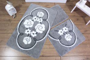 Набор ковриков для ванной DO&CO (60Х100 см/50x60 см) JADORE серый