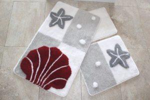 Набор ковриков для ванной DO&CO (60Х100 см/50x60 см) DENIZ YILDIZI серый