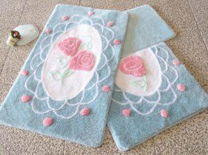 Набор ковриков для ванной DO&CO (60Х100 см/50x60 см) DANTEL мятный