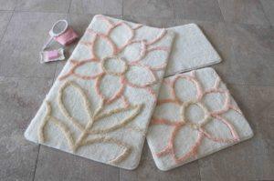 Набор ковриков для ванной DO&CO (60Х100 см/50x60 см) NATUREL персик