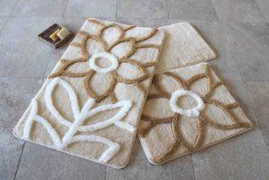 Набор ковриков для ванной DO&CO (60Х100 см/50x60 см) NATUREL бежевый
