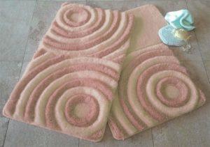 Набор ковриков для ванной DO&CO (60Х100 см/50x60 см) WAVE