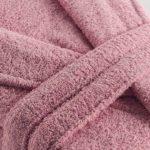 Махровый халат Basic грязно-розовый разм.XL