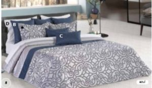 Покрывало + 2 подушки Leiper Landa Azul (Португалия)