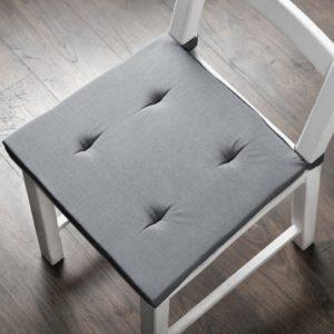 Комплект подушек для стула Билли 37х42 см Серый