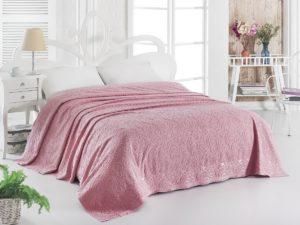 Простынь махровая     ESRA 200x220 см  Розовый