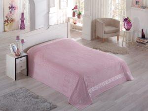 Простынь махровая  PUPILLA  SORTI 200x220 см  Грязно-розовый