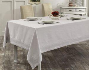 Скатерть   с вышивкой  HONEY 160x220 см  Серый