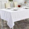 Скатерть  с вышивкой  HONEY  160x300 см  Белый