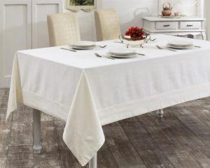 Скатерть   с вышивкой  HONEY  160x300 см  Кремовый