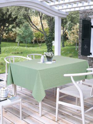 Скатерть  TABE PRAPITKA GOFRALI тефлон (150x180) см-Скатерть квадратная-Зеленый