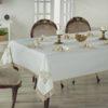 Скатерть  с пропиткой Скатерть Novra 160*220 с гипюром + салфетки