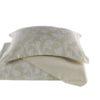 Постельное белье сатин с жаккардом Karna  ARIEL  Eвро Белый