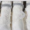 Скатерть  с салфетками FINEZZA гипюром CLARA (180xQ) круглая-Скатерть круглая-Кремовый
